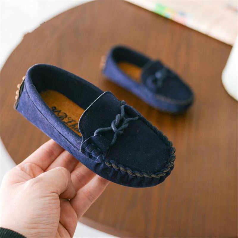 เด็กรองเท้าฤดูใบไม้ผลิและฤดูใบไม้ร่วงรองเท้าหนังสำหรับ boy girl 2019 แฟชั่นรองเท้า peas ใหม่สำหรับกลางแจ้ง