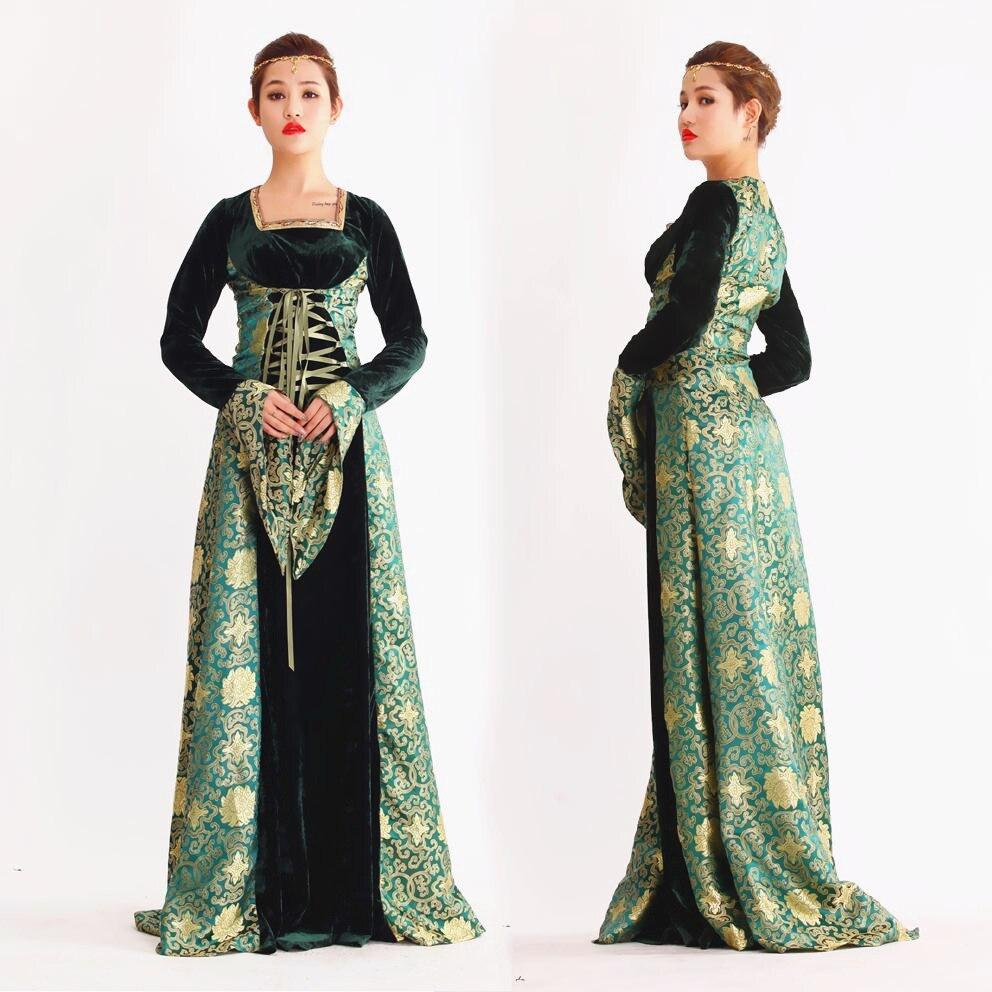 Loyal Court Renaissance Queen Victorian Ball Dress Medieval Costumes For Women Princess Fancy Dress Halloween Party