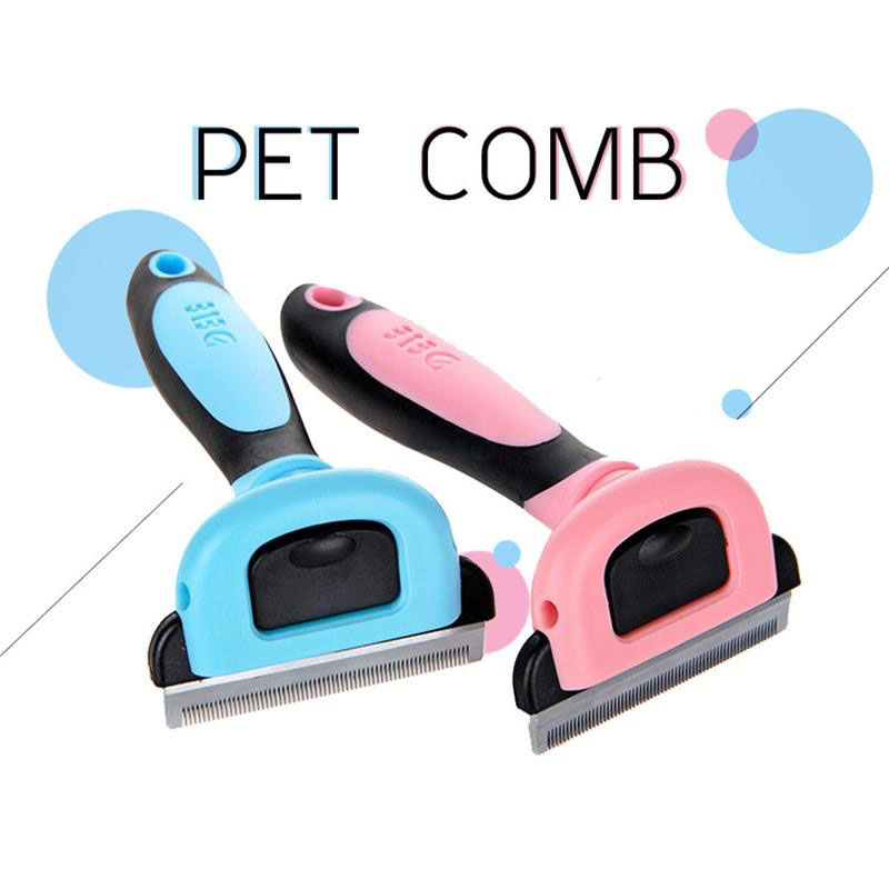 DELE Dog Hair Remover Cat Brush Grooming Tools Detachable Clipper Attachment Pet Trimmer Combs For Dog Pet Supply Furinator small scruffy dog breeds