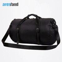 Aresland Size S L Urltra Light Folding Unisex Round Duffel Shoulder Travel Bag Handbag Bag For