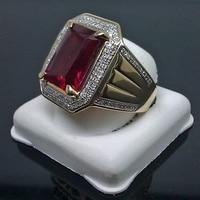 New Fashion Men's Copper Zircon Wedding Ring Size 8-15#062