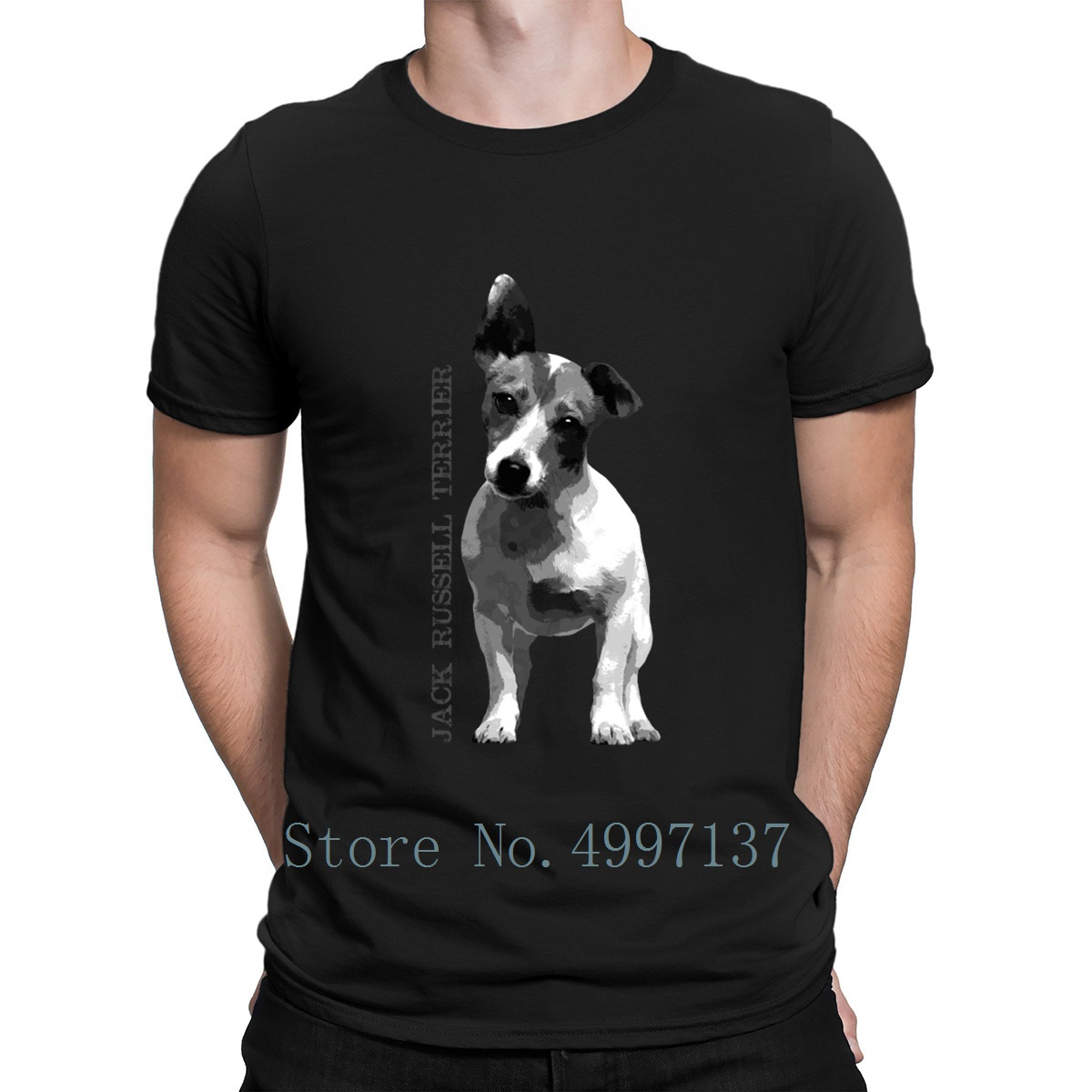 Jack Russell Terrier T Shirt Fashion Summer Style O-Neck Cotton Personalized Standard Slim Fit Shirt
