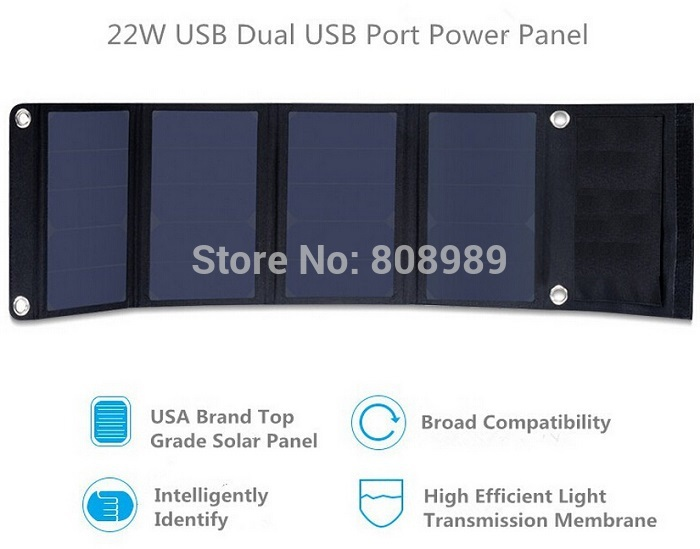 ФОТО 22W  Solar Panel Charger Fordable  Dual- Usb port Portable Solar Charger For Power Bank Sunpower High Efficiency Free Shipping