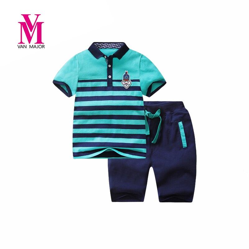 Boys Clothing Sets Children Sport Suits Baby Boys Polo Shirts + Shorts 2 Pcs Sets Clothes Fashion Design Comfortable