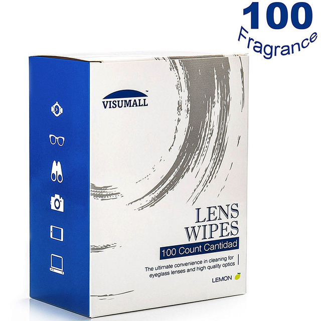 c824b85857 VISUMALL Formula pre-moistened Eye Glasses Cleaning Wipes Spectacle Cleaner  Lens cleaner 100 counts New Fragrance formula