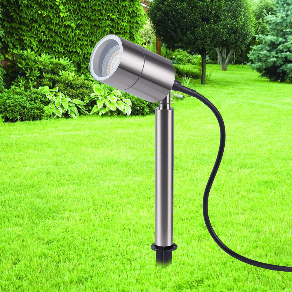 Outdoor led lawn Light stainless steel LED Garden Light Waterproof IP65 Landscape 5W GU10 Spike Spot Lights in LED Lawn Lamps from Lights Lighting