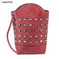 2017 punk style women leather handbags big pu tote bag brief ladies waterproof shoulder bag female casual rivet messenger bag