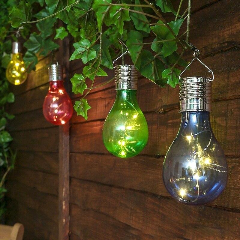Fashion Creative Solar Light Garden Camping Hanging LED Bulb Lamp Beautiful Outdoor Decoration