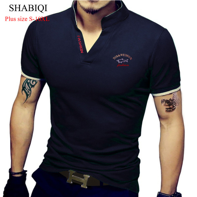 SHABIQI mens מזדמן נוח פנאי מזדמן בגדי מפעל חנות גברים של חולצה גדולה גודל S-10XL Custom support6XL7XL8XL9XL10
