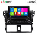 Car radio multimedia player with steering wheel control BT for Toyota Vios RDS gps navigation support reverse camra free map