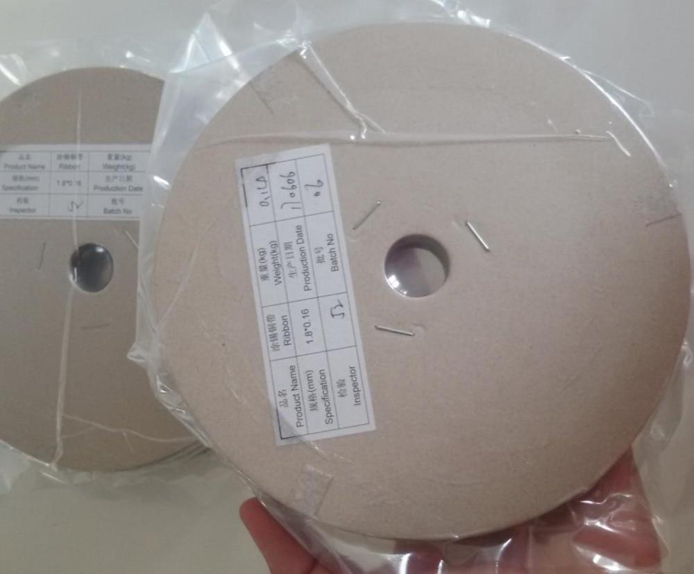 MSL SOLAR Solar cells soldering ribbion 1.8mm*0.16mm copper strip for make solar panel.tabbing wire 60meters/Roll.6pcs/Lot