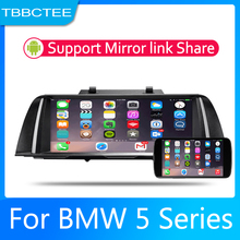 купить Android 2 Din Car radio Multimedia Video Player auto Stereo GPS MAP For BMW 5 Series F10 F11 2010-2012 CIC Media Navi Navigation дешево