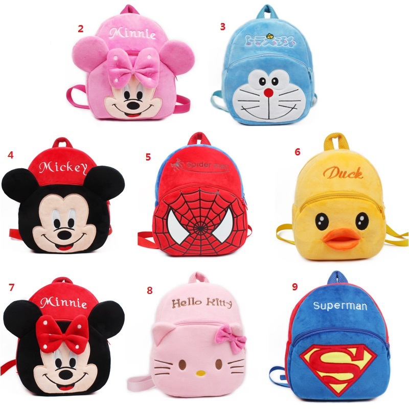 2 4 years Children s backpack Summer breathable schoolbag Cartoon Anime Hellokitty Minnie Mickey backpack gift