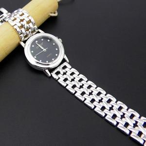 Image 3 - S925 スターリングシルバーファッションシンプルなレトロタイシルバーレディース新腕時計ブレスレット取り外し可能なセクション