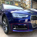สำหรับ Audi A4 B9 ดัดแปลง S4 สไตล์ 2016UP สีดำด้านหน้า Fog Fog Grille Grill รถมาตรฐานกันชน