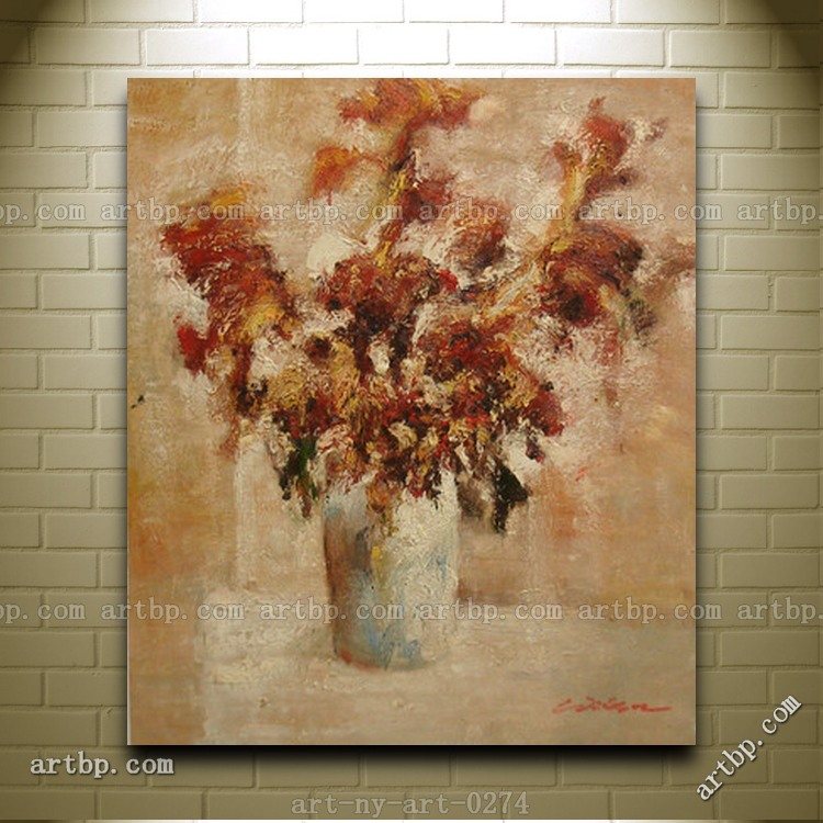 Contemporary oil painting of flowers in vase still life for How to do glass painting at home