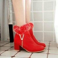 2017 الشتاء الدافئة كبيرة الاتحاد الأوروبي حجم 34-48 أحذية بوتاس موهير حذاء امرأة الأزياء مارتن إمرأة جزمة 1695