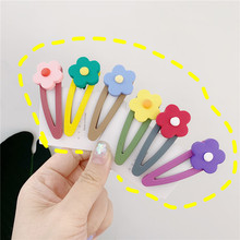 2019 New INS 10Pcs Cute Children Hair Clips Colorful Flower 6CM Accessories for Women Girls Headdress Lovely Kids Hairpins