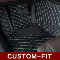 Custom 100 Fit Car Floor Mats For BMW X3 E83 F25 PVC Leather Car Styling Rugs