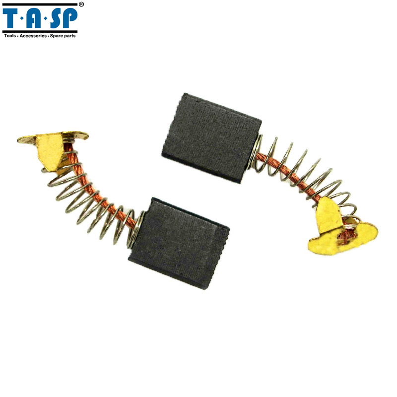 TASP 5 Pairs Carbon Brushes 6.5*13.5*16mm For Makita Electric Motors CB153 CB 153 1 pair original makita carbon brushes for electric motors cb 303 cb303 for 9227 polisher 5x11x17mm