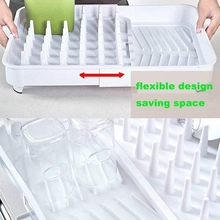 Silicone Dish Drying Mat Tray Dish Drain Storage Rack Plastic Tray Rack Kitchen Drain Rack Home Garden Kitchen Tools
