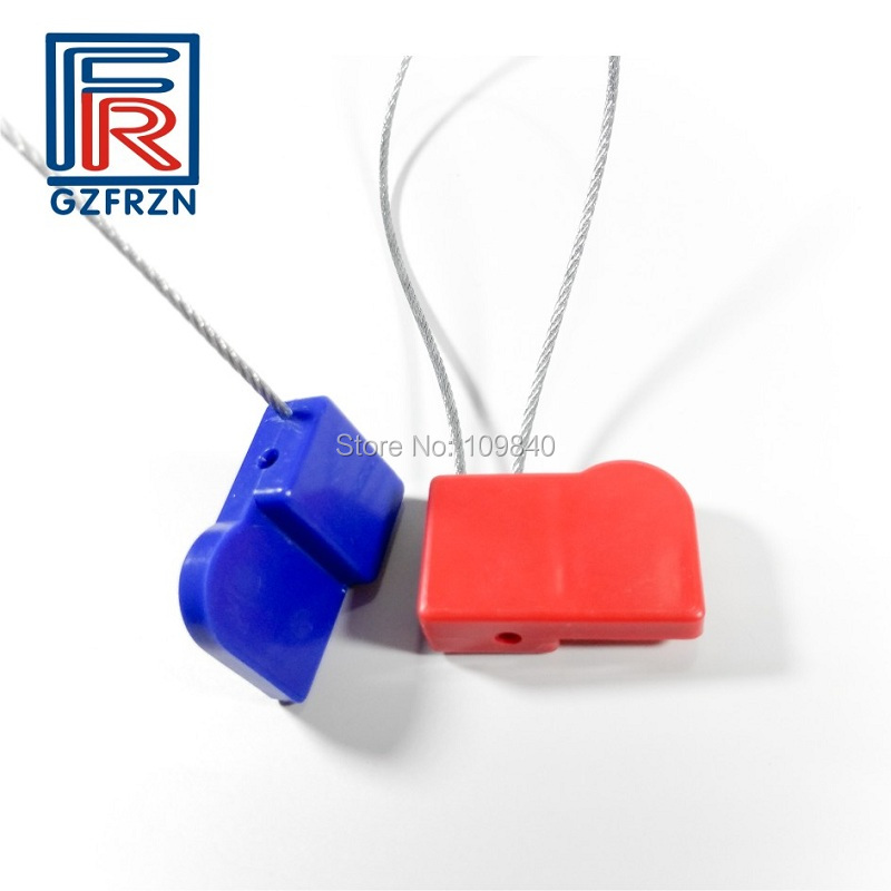 100 pçs/lote ABS Liga de Metal Fio de Aço Anti-roubo RFID F08 M1 tag Selo de Chumbo para Elétrica Grátis