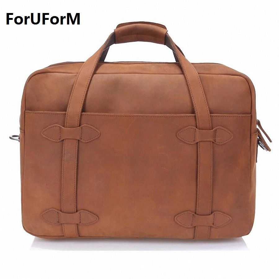 Vintage 100% Crazy Horse Genuine Leather  Luggage Travel Bag Men Duffel Bag Large Men Leather Duffle Bag Weekend Tote LI-1409
