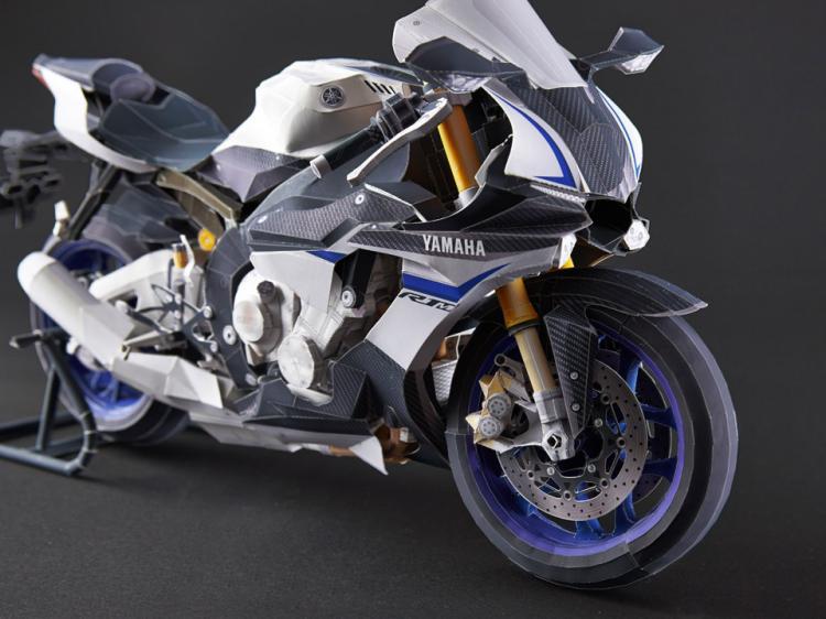 YZF-R1 Superfine moto 3D papier modèle bricolage