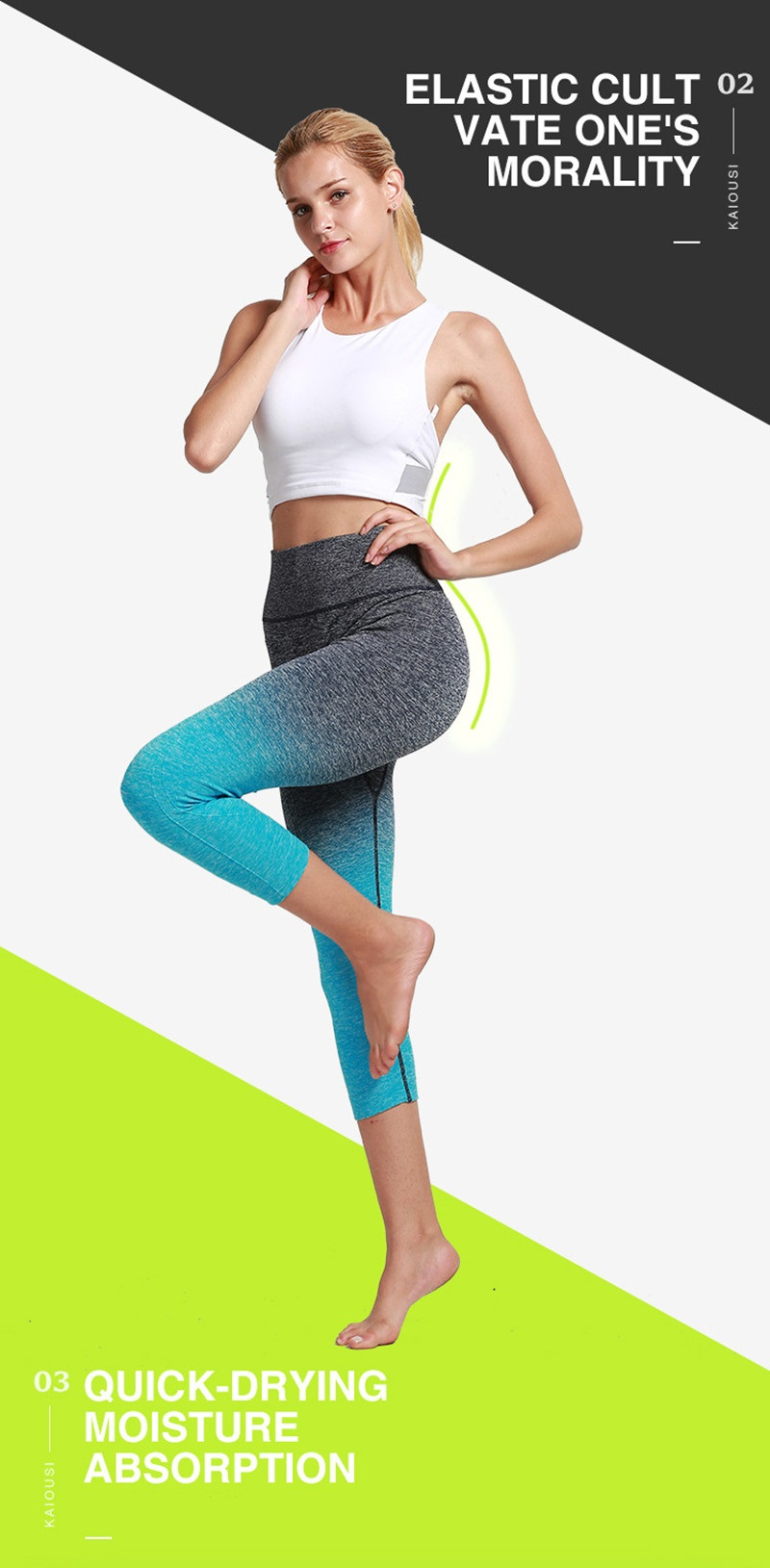 fa77103a6f2d2 2019 SEXY Gradient Women Yoga Pants Fitness Tights Gym Exercise ...
