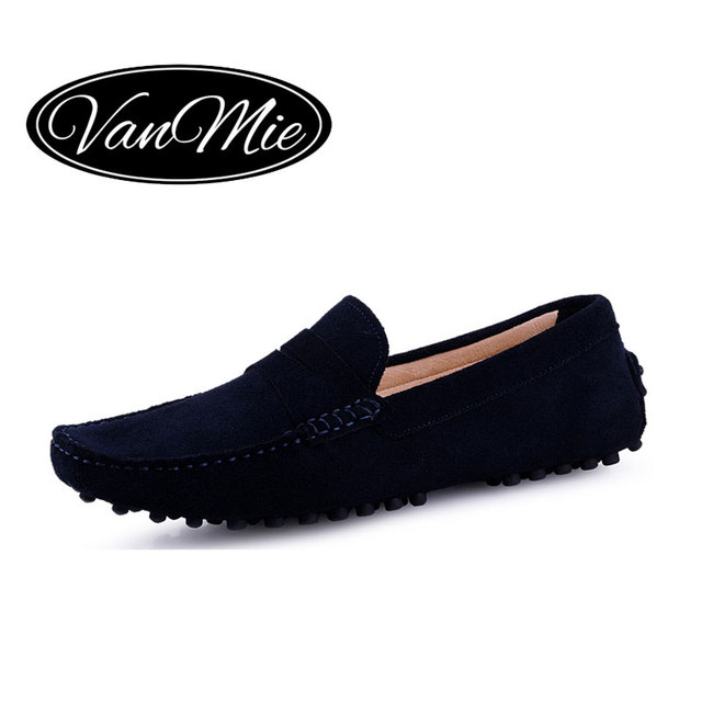 326fbfb678f1 Vanmie Brand New 2017 Black Men Loafers Shoes Luxury Slip-on Moccasins  Casual Men Shoes Suede Leather Men s Flats Shoes