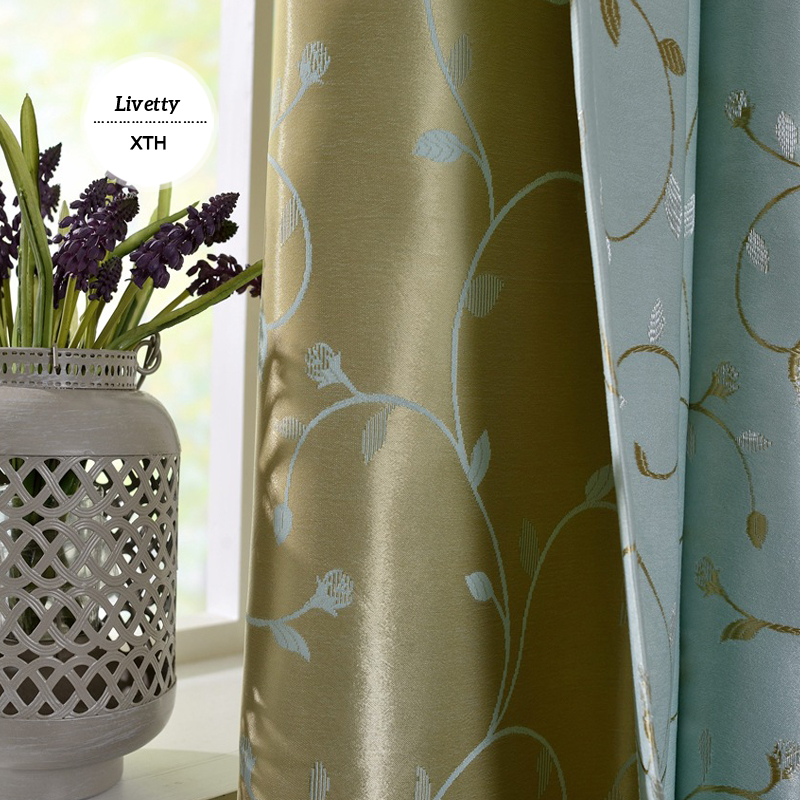 Buy curtain fabric jacquard luxury for Where to buy drapes