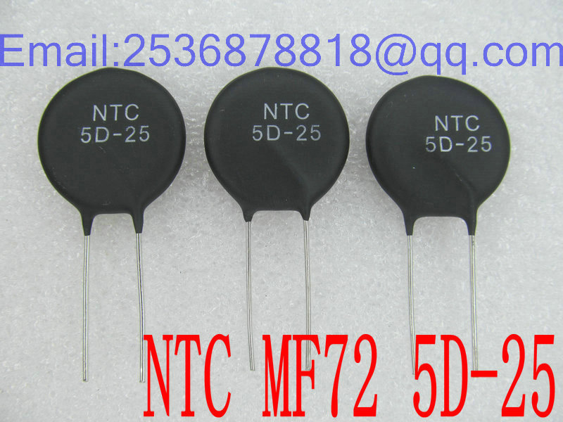 NTC 5-Ohm 20pcs/Lot Negative-Temperature Piece-Diameter MF72-5D25 25MM
