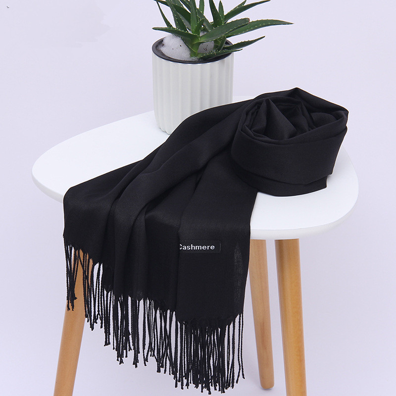 Solid Color Soft Women   Scarf   Faux Cashmere   Scarves   Lady Summer Thin Shawls   Wraps   Autumn Winter Pashmina   Scarves   Women 2018