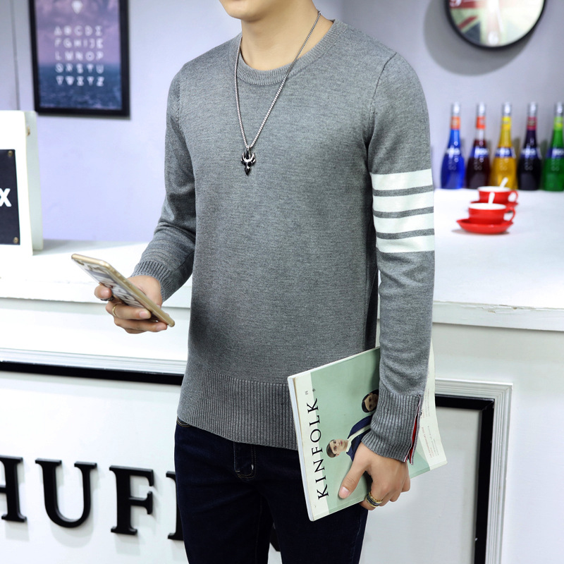 Winter Man Round Neck Long Sleeve Knit Sweater Coat Sweaters Men's Fashion Plus Size S--XXXL