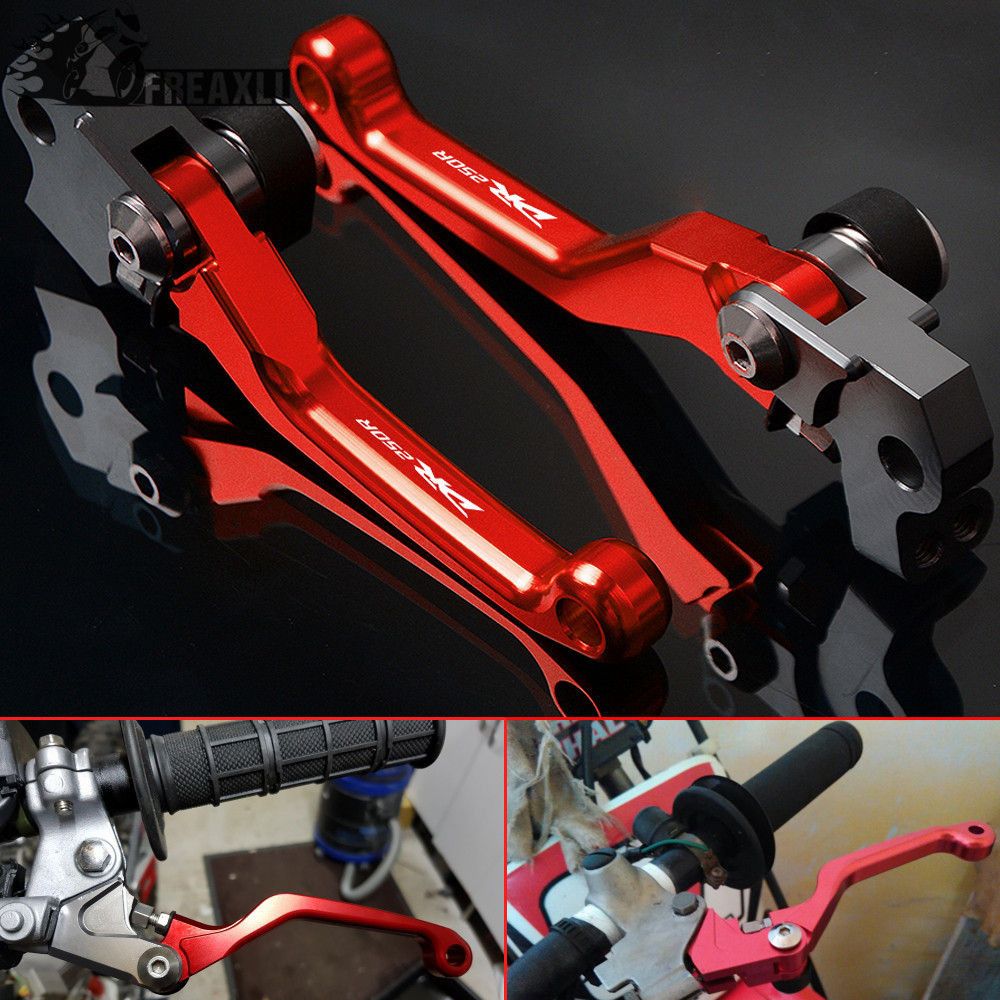 CNC Brake Clutch Levers Pit Dirt Bike Pivot Motorbike Motocross Accessories For Suzuki DR250R <font><b>DR</b></font> <font><b>250</b></font> R <font><b>DR</b></font> 250R DR250 R 1997-2000 image