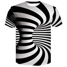 men paisley t shirt Black And White Vertigo Hypnotic 3D Print T Shirt  Short Sleeved Tees Men/women Tops Mens funny tops