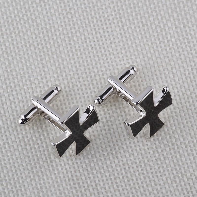 HTB1czaCKXXXXXcPXVXXq6xXFXXXt - Black Cross Shaped Cufflinks