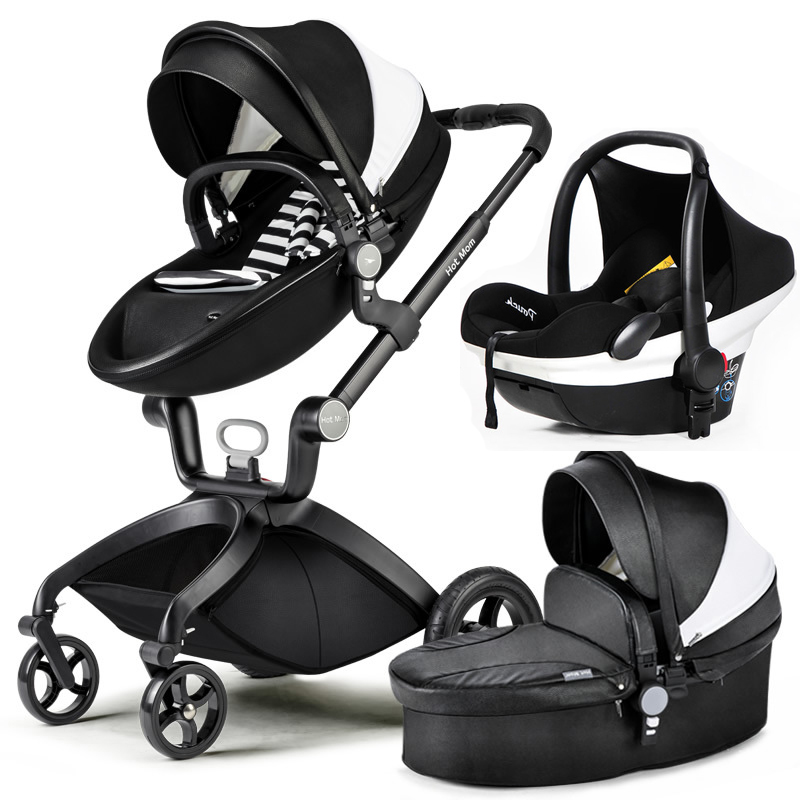 Hot Mom stroller high landscape can sit or lie pneumatic wheels portable baby stroller trolley free delivery luxury baby stroller high landscape baby carriage for newborn infant sit and lie four wheels
