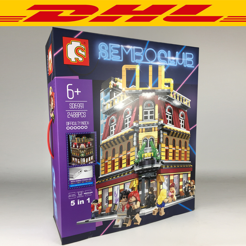 2018 NEW 2488Pcs City series LED nightclub club Model Building Kits Blocks Bricks Toys For Children Gift Compatible With 101822018 NEW 2488Pcs City series LED nightclub club Model Building Kits Blocks Bricks Toys For Children Gift Compatible With 10182