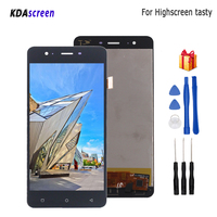 For Highscreen Tasty LCD Display Touch Screen Digitizer Phone Parts For Highscreen tasty Display Screen LCD Free Tools