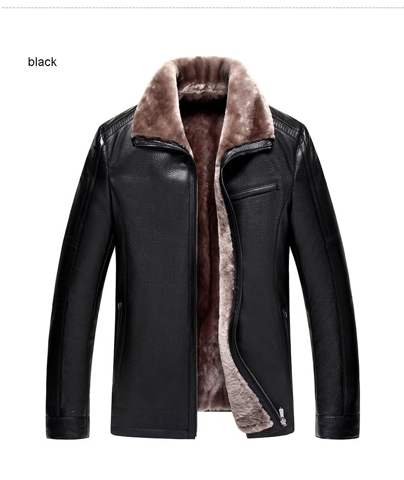 HTB1czaibsvrK1Rjy0Feq6ATmVXaS Men Genuine Leather jackets Brand 2019 New Men Wool Liner Winter Warm Coats Luxury Male Cow leather Outerwear