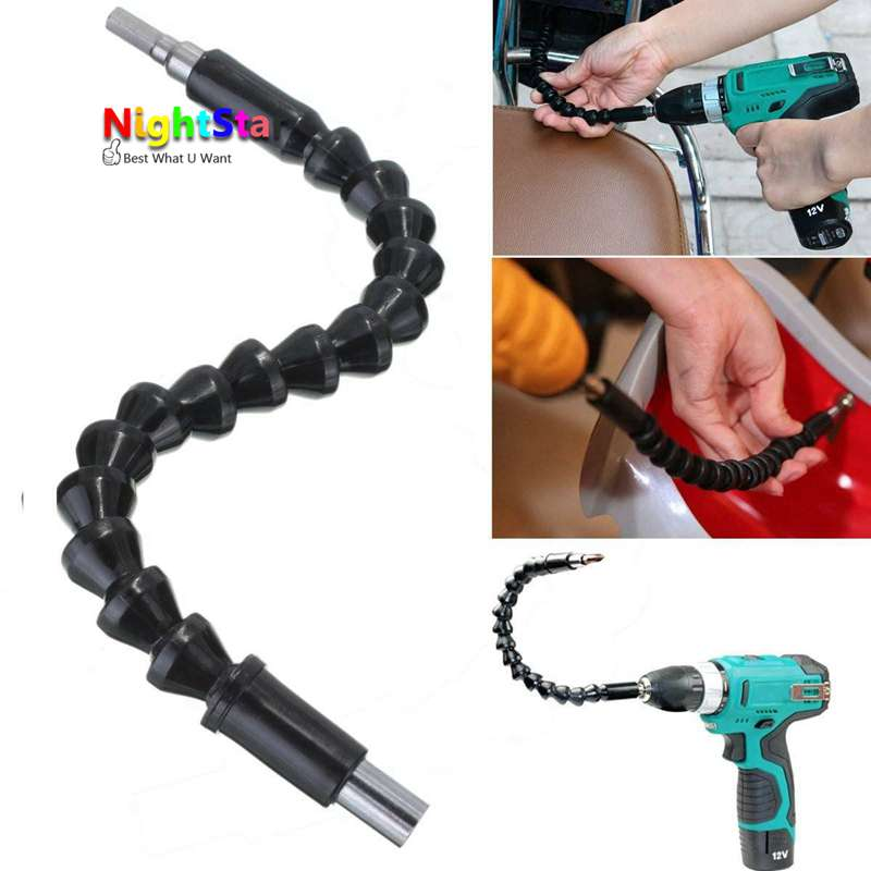 295mm Flexible Shaft Connecting Link For Electric Drill Connection Shaft Bits Extention Screwdriver Power Tools alpino розовый 12 150 гр