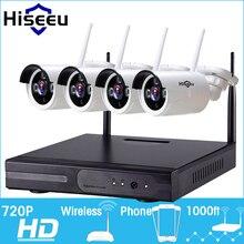 720 P Bezprzewodowy System CCTV 4ch wifi Potężny Bezprzewodowe NVR NVR Kamera IP Bullet Kamery CCTV Home Security System Nadzoru zestaw