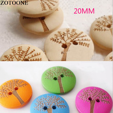 Prajna 50/100PCS 20mm Tree Natural Mixed Color Wooden Buttons Handmade Scrapbooking Decor Sewing Accessories Snowflake Carved Z1