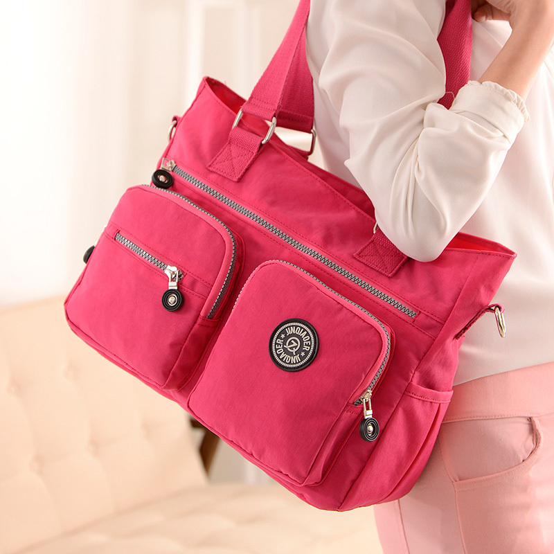 뜨거운 Fahion 여성 핸드백 견고한 여행 방수 나일론 가방 여성 숙녀 femininas bolsa fashion clutch tote