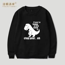 Frdun Tommy New Funny Dinosaur Hoodies Sweatshirts