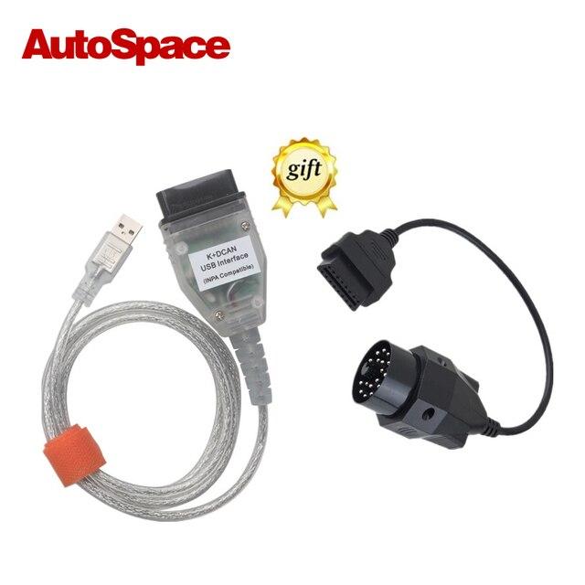 Para BMW INPA K PODE INPA K + CAN Com 20pin Cabo 20pin conector Para BMW Carro De Diagnóstico Completo-Detector Para BMW De 1998 A 2008