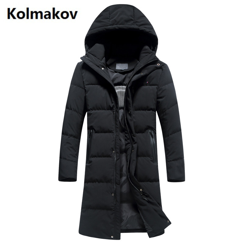 2017 winter Mens winter jackets Mens casual Hooded jackets trench coat men white duck down 90% down jacket Mens Down Coats