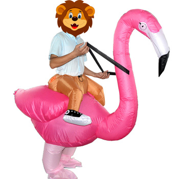 Inflatable Flamingo Anime Costume Party Halloween Costume for Women Man Adults Children Kids Inflatable Mascot Cosplay K1155 F