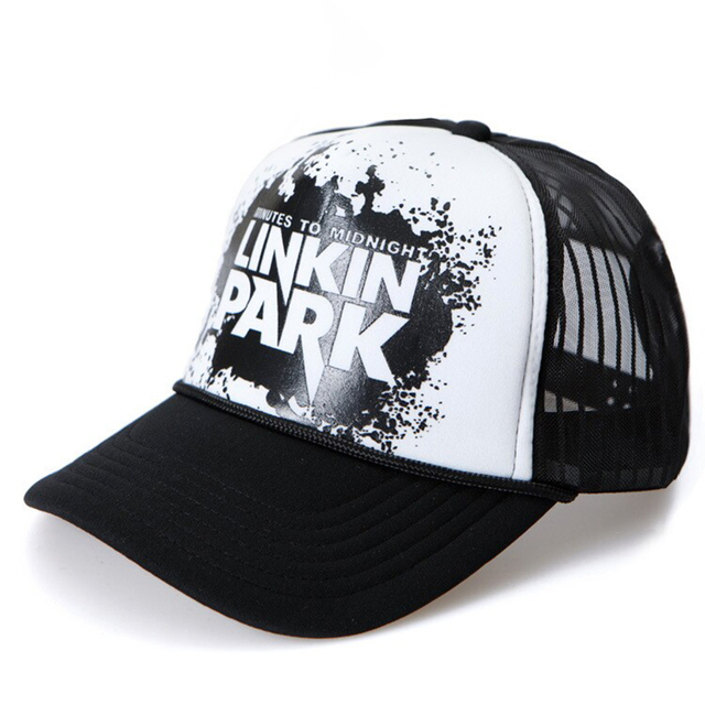 linkin park Snapback mesh baseball trucker cap men net cap hip hop Visor  Sunbonnet Loves hat for women unisex B214 a4749f2ee56